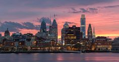 One of my favorite sunset skyline shots of Philadelphia!  This night I went to the waterfront hoping for lightning shots since a storm was barreling through. No lightning and I was bummed out that it was looking like another bust. The rain stopped after waiting 15 minutes and the sky opened up just enough to let these colors pop. It just goes to show you don't know unless you go! Get out there!! _________________________________  Prints available for purchase check my bio! . . . .