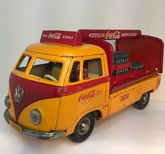 Coca Cola Tin litho V.W Delivery Van by Tipp Co west gernany