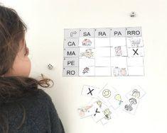 Imprimible lectoescritura Juego encuentra la palabra, formar palabras a partir de sílabas Family Matters, Learning Centers, Ideas Para, Montessori, Photo Wall, Frame, Valencia, Activities, Appliance Cabinet