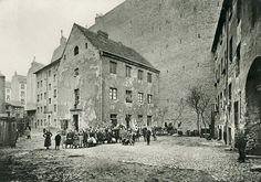 View of a Backyard in Berlin / Photo 1903 Berlin, Germany. Alt-Moabit 73.
