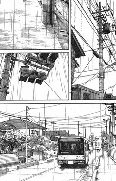 51 Page 1 - Everything About Manga Manga Drawing, Manga Art, Wallpaper Japanese, Manga Posen, Cityscape Drawing, Comic Book Layout, Manga Eyes, Graphic Novel Art, 8bit Art