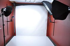 Some great diy ideas for at home backdrops. Do not waste your money going to studios. I know everyone has one of those rooms in their hous that acts as a storage unit. Time to clean it out and make a studio. Studio 9 (by Kurbster)