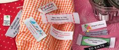 Clothing Labels, Personalized Ribbons, Custom Woven Sewing Labels, Personalized Gift Wrap, Wedding Favor Ribbons, Wrapping Paper, Iron on Labels, Camp Labels, Manufactured from NameMaker.com Since 1938. - Name Maker Inc