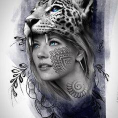 Indian Girl Tattoos, Mexican Art Tattoos, Asian Tattoos, Girl Face Tattoo, Girl Face Drawing, Tattoo Artwork, Tattoo Drawings, Aztec Tattoo Designs, Catrina Tattoo