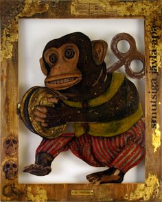 Mr Panties  Mixed media on wood  Simone Anderson