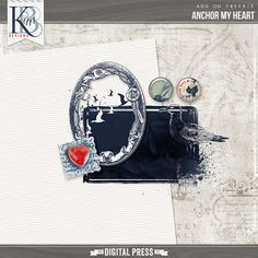 Quality DigiScrap Freebies: Anchor My Heart tiny kit freebie from Kim B Designs