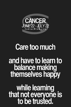 Care too much vs. learning not everyone can be trusted.