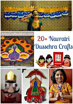 Navratri , culminating with Dussehra, is a cultural festival of great importance and significance in India. 20+ Crafts & activities to celebrate Navratri & Dussehra with your family .. #Elephant #MysoreDussehra #Ravana #ramayan #India #Dandiya #Navratri