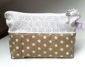 Trousse/pochette de sac tons beiges : Trousses par les-envies-de-charlotte