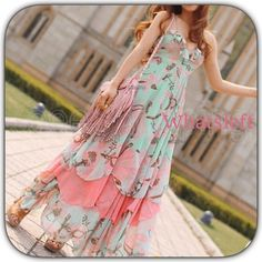 """5X HP NWT Green Coral Bohemian Maxi Dress Gorgeous vacation dress! Nice for a cruise! HP 8/28/16! """"So long summer party """"! HP 8/27/16! Classic Chic Party! HP 8/10/16! Fashion Favorites Party! HP 6/11/16! Essential Style Party!HP 5/14/16! """" Essential Styles Party""""! This would make a gorgeous PROM dress or vacation dress! This is a flirty, feminine and dreamy dress! The bottom is a layered ruffled hem! The colors are green, cream, coral and a soft pink! ! Boutique Dresses Prom"""