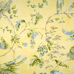 Best prices and fast free shipping on Scalamandre fabric. Always first quality. Search thousands of designer fabrics. Item SC-16393-002. $5 swatches available. Fabric Design, Pattern Design, Yellow Fabric, Blue Green, Vintage World Maps, Blues, Fabrics, Prints, Painting