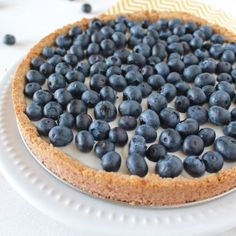 This gluten free & autoimmune paleo blueberry tart is the perfect healthy treat! Even if you're not AIP or Paleo, you'll still enjoy this fresh tart!
