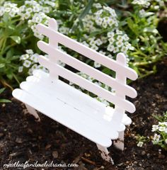 DIY-fairy-garden-popsicle-stick-bench by Lynn SandersonThis easy DIY fairy garden is so simple to make and doesnt take up a lot of space. Its a fun way to spruce up your deck or patio! This easy DIY fairy garden isFairy Gardening Archives - Page 9 of 11 - Fairy Garden Houses, Diy Garden, Garden Crafts, Garden Projects, Fairies Garden, Gnome Garden, Fairy Gardening, Gardening Hacks, Garden Ideas Kids