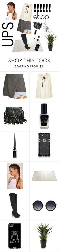 """""""help me"""" by nadialestari99 ❤ liked on Polyvore featuring Toga, GUESS by Marciano, Barry M, Christian Louboutin, Halston Heritage, Alice + Olivia and Casetify"""