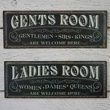Simply Creative Unique Toilet Signs One Must Go Pinterest - Ladies and gents bathroom signs for bathroom decor ideas