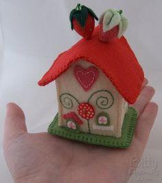 Strawberry Cottage Plush Pincushion