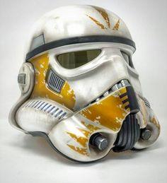 Did this commission yesterday. Hasbro black series stormtrooper helmet resprayed into clone commander colours. Clone Trooper Helmet, Star Wars Helmet, Star Wars Droids, Lego Star Wars, Star Wars Images, Cool Masks, Star Wars Tattoo, Star Wars Costumes, Disney Star Wars