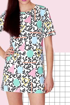 GEOMETRIC DRESS by PLASTICBONESSTORE on Etsy
