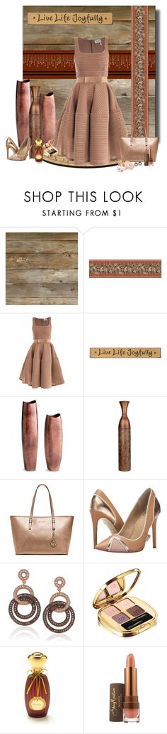 """Live Life Joyfully"" by whiteflower7 ❤ liked on Polyvore featuring York Wallcoverings, Lanvin, DutchCrafters, Cyan Design, Michael Kors, gx by Gwen Stefani, Suzy Levian, Dolce&Gabbana, Annick Goutal and SheaMoisture"