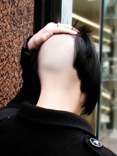 High nape, shaved smooth