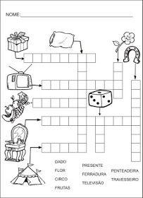 Saber e Saberes: Cruzadinhas com banco de palavras Education, Atv, Language Activities, Literacy Activities, Wordsearch For Kids, Letter N Activities, Cool School, Crossword Puzzles, School Supplies