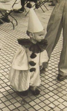 Vintage child, clown costume