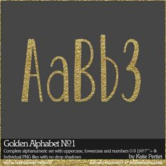 Golden Alphabet No. 01 - Digital Scrapbooking Alphabets DesignerDigitals
