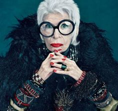 Fact - I too will rock big round glasses and ruby red lips just like you, Iris Apfel. Adore.