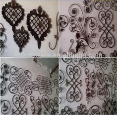 2015 New Design Wrought Iron Panels For Fence Gate Wholesale Wrought Iron Fence Panels, Decorative Fence Panels, Faux Panels, Trellis Fence, Fence Gate, Diy Fence, Fence Ideas, Fence Planters, Concrete Fence