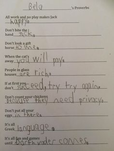 Funniest Kid Test Answers are hilarious so that Funny Kids Test Answers are wrong and totally brilliant at both times, unlike Funny Test Answers. Funny Exam Answers, Funniest Kid Test Answers, Kids Test Answers, Funny School Answers, Stupid Funny, Funny Texts, Funny Jokes, Hilarous Memes, Funny Math