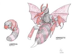 Well, I've obviously been lacking on new fakemon, so here, let's start with these guys I drew back in the summer of 2011. These are the version exclusive dragons you would obtain in my region. The ...