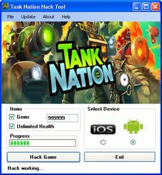 Tank Nation Hack 2016 download iOS, apk.Full Tank Nation Hack download. Download hack and crack for Tank Nation Hack.