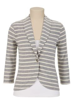 Lace Back Striped Blazer available at #Maurices