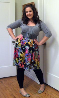 Super cute dress-as-skirt!
