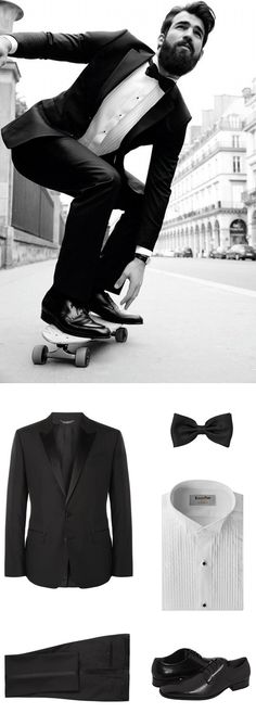 Mens Bow Tie in Solid Black - This solid black bow tie belongs in any man's wardrobe. It is a time-less accessory that is perfect for formal black tie functions in combination with a tuxedo and tuxedo Black Bow Tie, Men's Wardrobe, Men's Apparel, Solid Black, Budget, Menswear, Bows, Formal, Celebrities