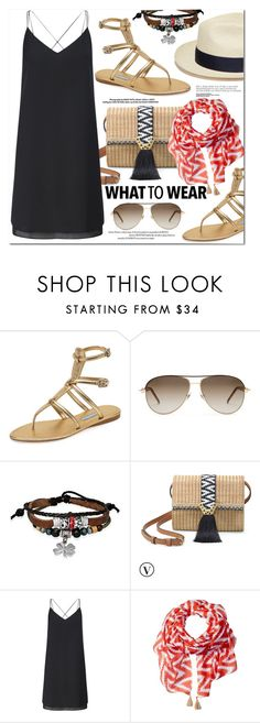 """""""Street Style"""" by monica-dick ❤ liked on Polyvore featuring Prada, Gucci, Bling Jewelry, Artesano, Stella & Dot, Miss Selfridge, San Diego Hat Co., StreetStyle, casualoutfit and summerstyle"""