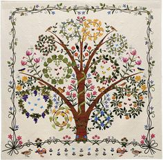 AQS- 27th Annual Quilt Show & Contest - Award Winner - Bed Quilts Hand Quilted – Superior Threads Titled: 'Tree of Life' by Keiko Miyauchi