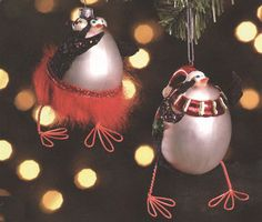 With their bulbous bodies being contrasted by their wiry, thin feet and legs, the Penguin Glass Christmas Ornaments add fun to any Christmas tree. Penguin Ornaments, Glass Christmas Tree Ornaments, Christmas Bulbs, Christmas Gifts, Egg Shape, Penguins, Boy Or Girl, Shapes, Crystals
