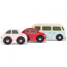 le toy van drie houten retro autootjes TV463   ilovespeelgoed.nl
