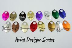 Anodized Aluminum Small Scales - Metal Designz