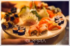 Sushi Olympia Restaurant, Terrace, Sushi, Club, Ethnic Recipes, Food, Balcony, Porch, Eten