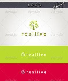 Real Live Logo — Photoshop PSD #abstract #friendly • Available here → https://graphicriver.net/item/real-live-logo/2079261?ref=pxcr