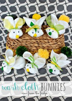 Wash Cloth Bunnies how to | View From The Fridge