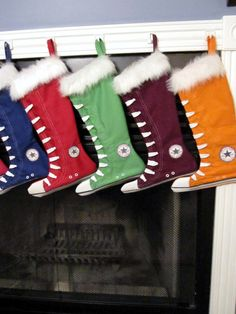 Converse inspired Christmas by creationzbycatherine on Etsy ~ so cute!