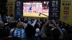 Buenos Aires, GOL clásico de Palermo en el Mundial 2010