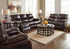 Pranas Contemporary Brindle Polyester Living Room Set