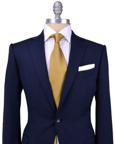 Ermenegildo Zegna | Blue Tic Weave Suit | Apparel | Men's