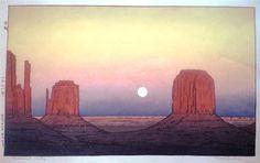 Monument Valley, 1971 by Toshi Yoshida. Sōsaku hanga. landscape