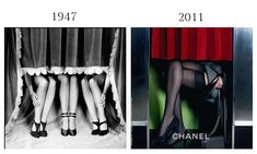 Fall Fashion Revue by Philippe Halsman / Magnum Photo, 1947 and Freja Beha by Karl Lagerfeld for Chanel FW 2011.