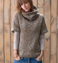 Shop The Moto Sweater Jacket Knitting Designs, Knitting Stitches, Hand Knitting, Knitwear Fashion, Knit Fashion, Diy Pullover, Knit Vest, Sweater Jacket, Crochet Clothes